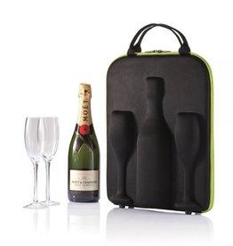 Sac de Transport pour  le Champagne ( Incluant 2 flûtes en Verre )