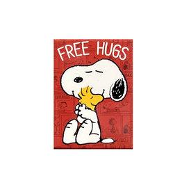 Charlie Brown ( Magnet ) Snoopy Free Hugs