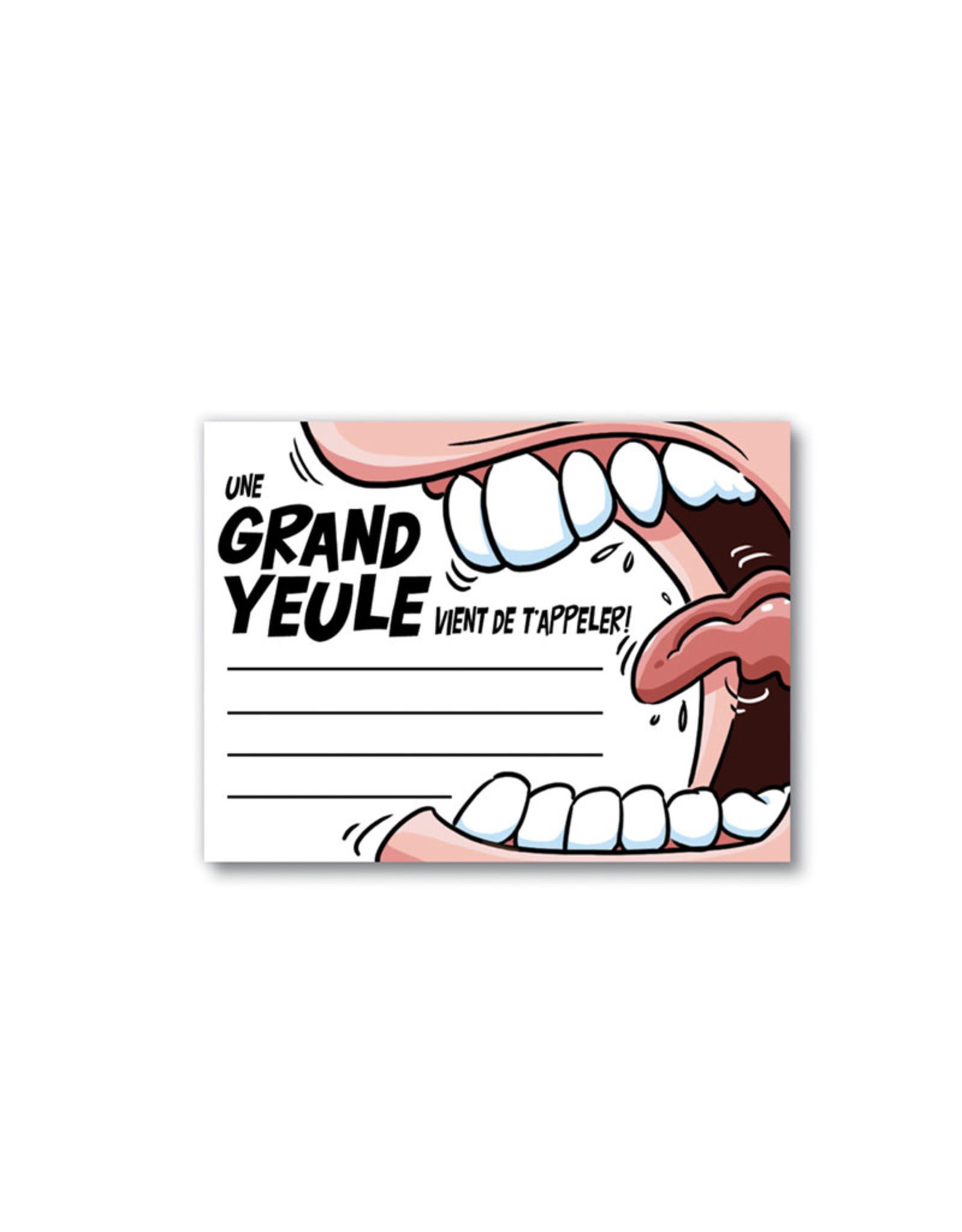 Bloc-Note ( Une grand yeule vient de t'appeler ! )