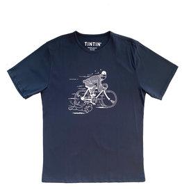 Tintin ( T-Shirt ) On Bike