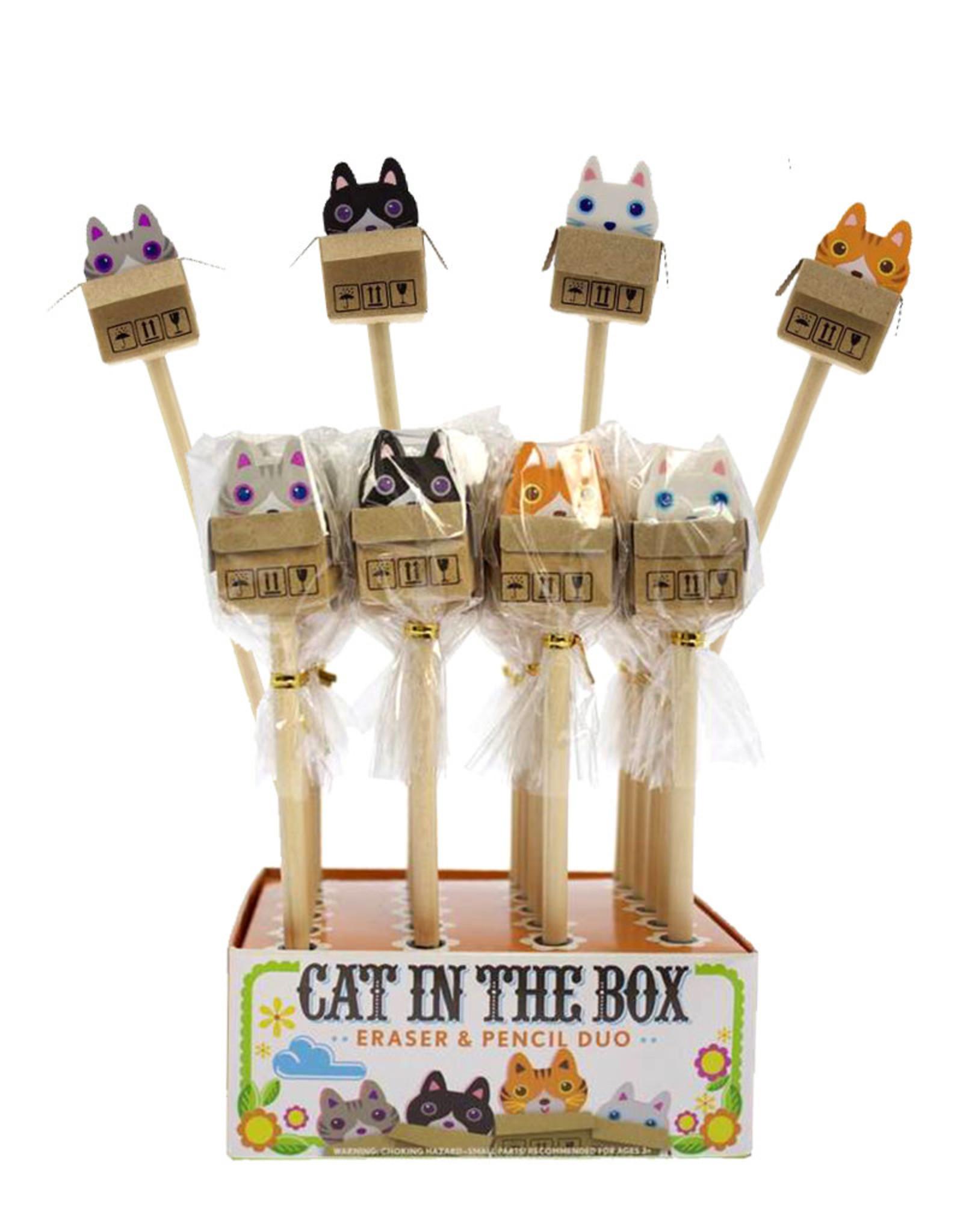 Cat in the Box ( Eraser & Pencil Duo )