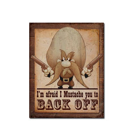 Looney Tune ( Metal Sign 12.5 X 16 ) Yosemite Sam Back Off