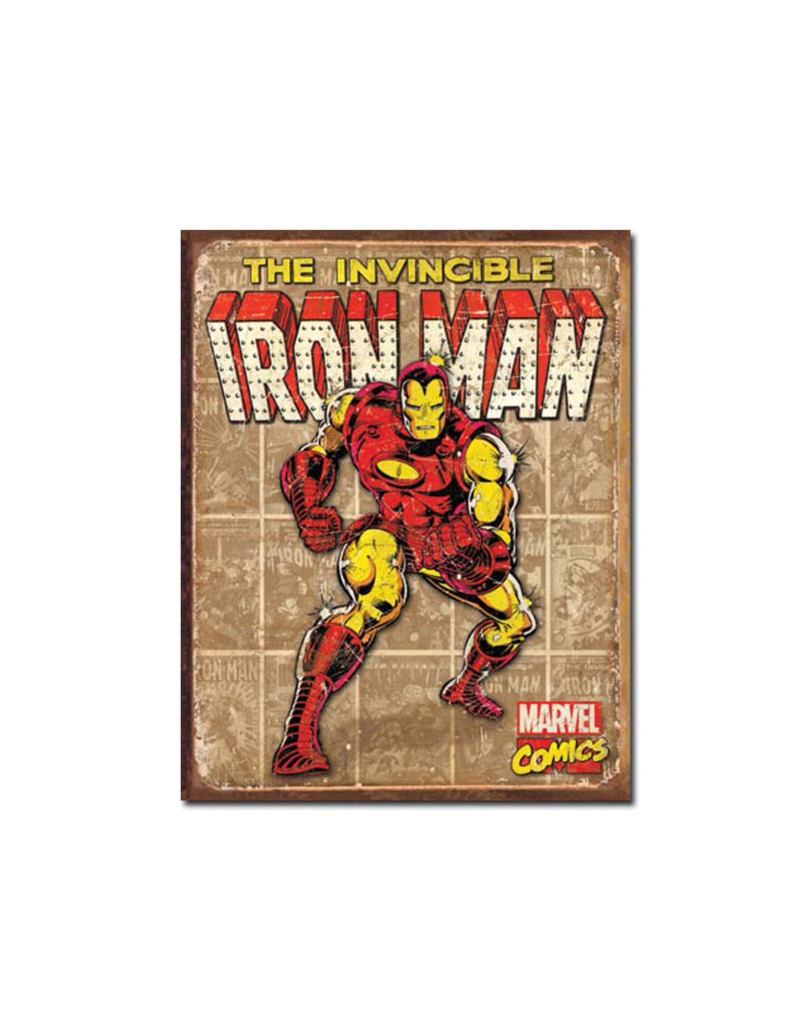 Marvel Marvel ( Metal Sign 12.5 X 16 ) Iron Man Retro