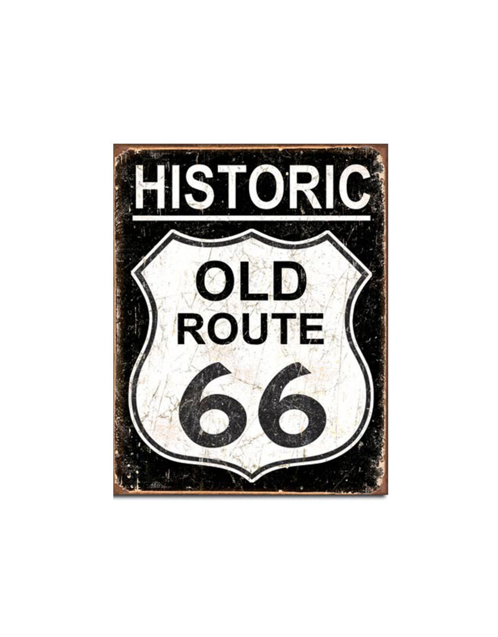 Old Route 66 ( Metal Sign 12.5 X 16 ) Historic