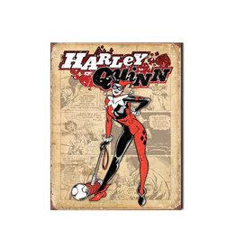 Dc comics Dc comics ( Affiche de Métal 12.5 X 16 ) Harley Quinn Retro