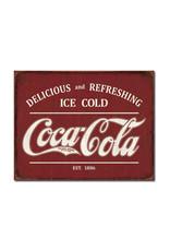 Coca-Cola Coca-Cola ( Metal Sign 12.5 X 16 ) Retro EST.1886