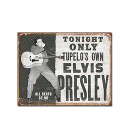 Elvis ( Affiche de Métal 12.5 X 16 ) Spectacle
