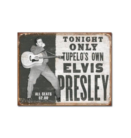 Elvis ( Metal Sign 12.5 X 16 ) Show