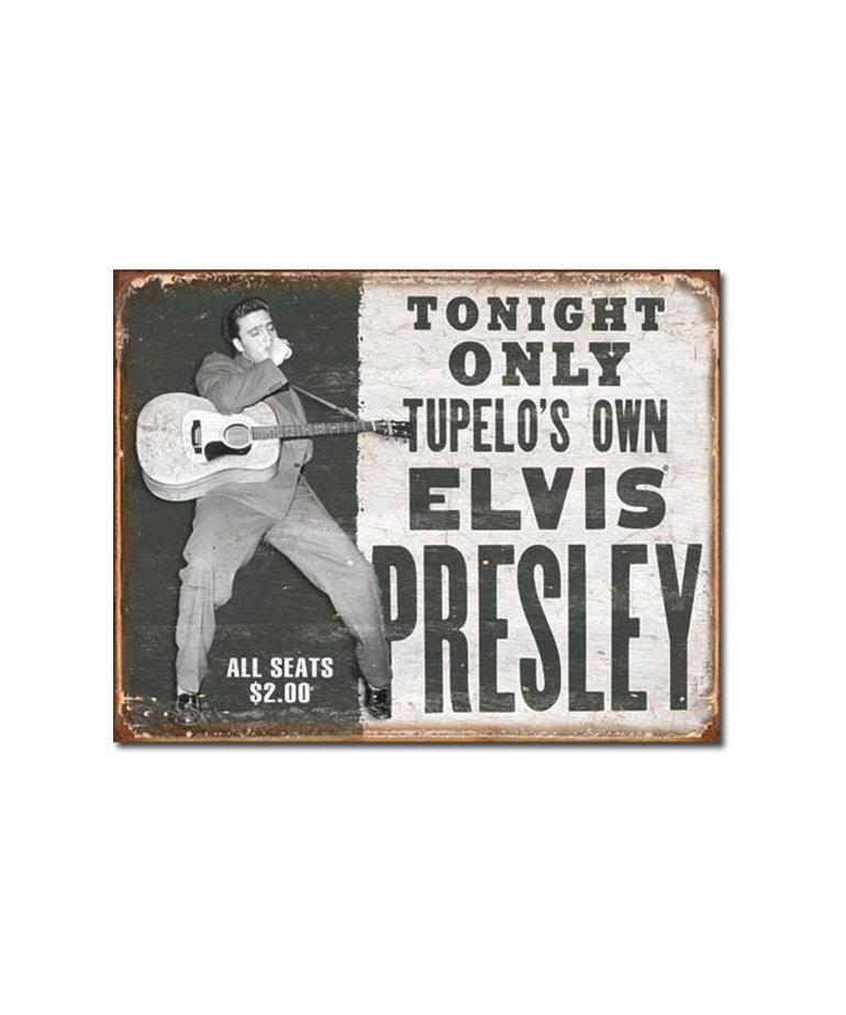 Elvis ( Metal Sign 12.5 X 16 ) Show