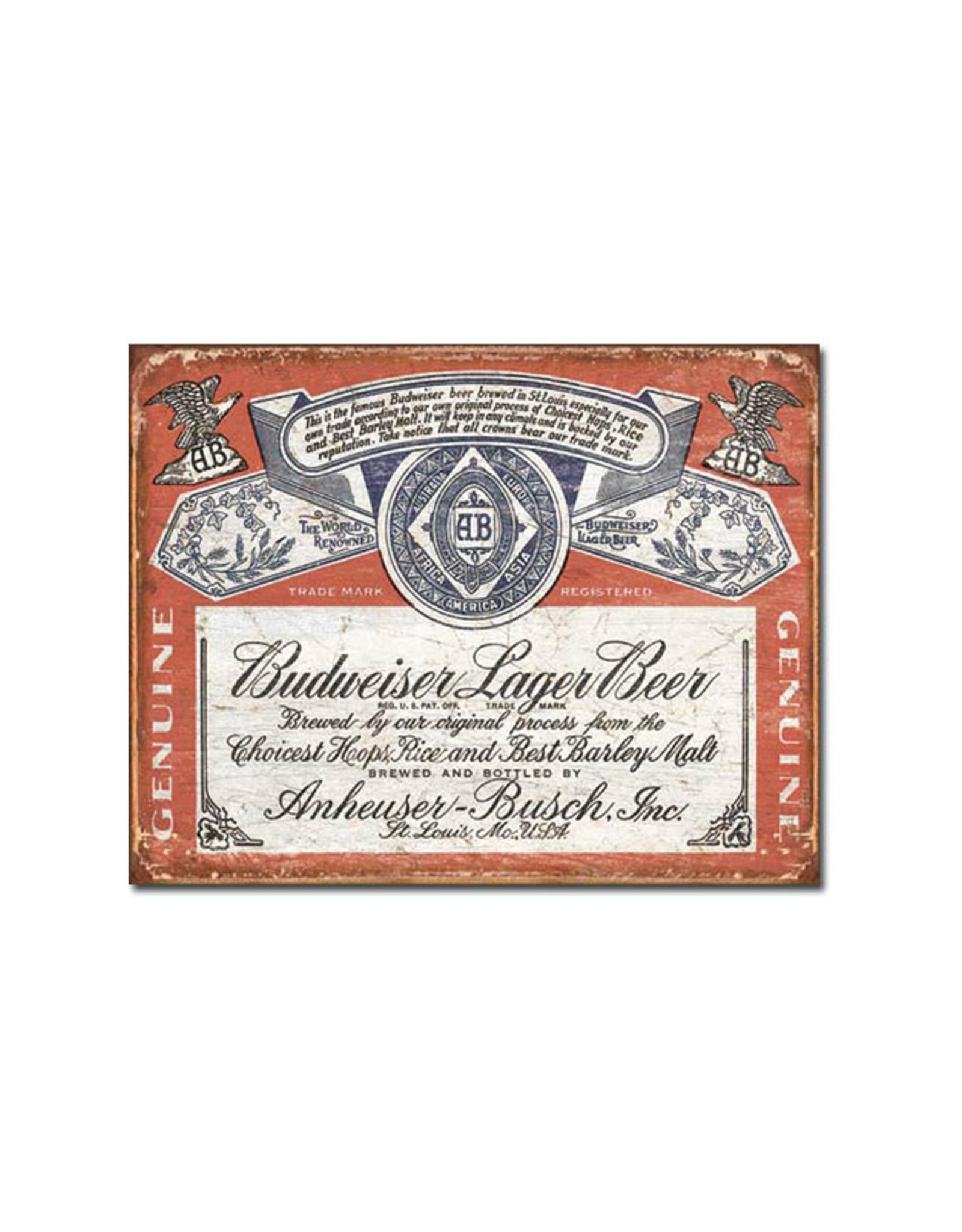 Budweiser ( Metal Sign 12.5 X 16 ) Historic Label