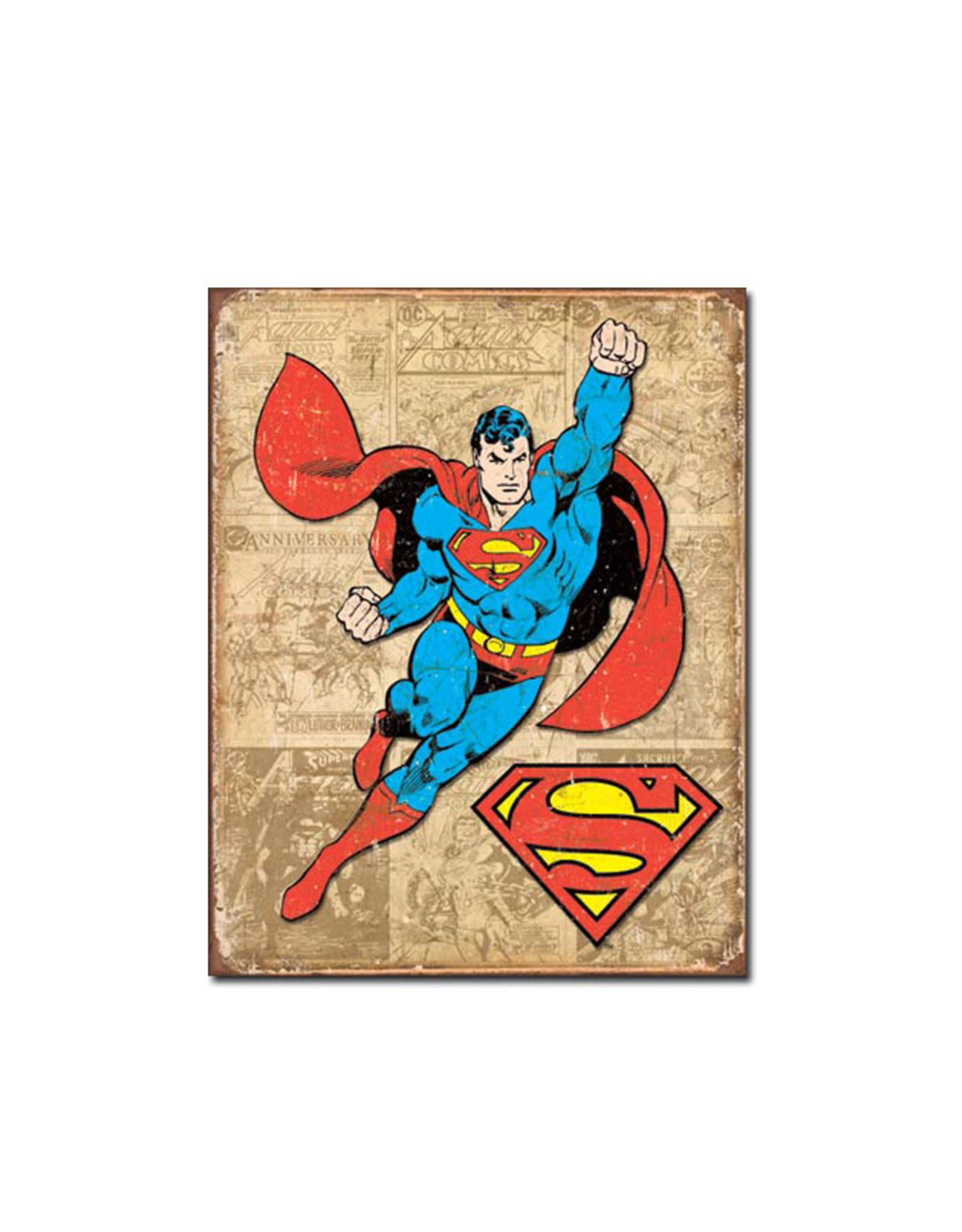Dc comics Dc Comics ( Metal Sign 12.5 X 16 ) Superman Retro