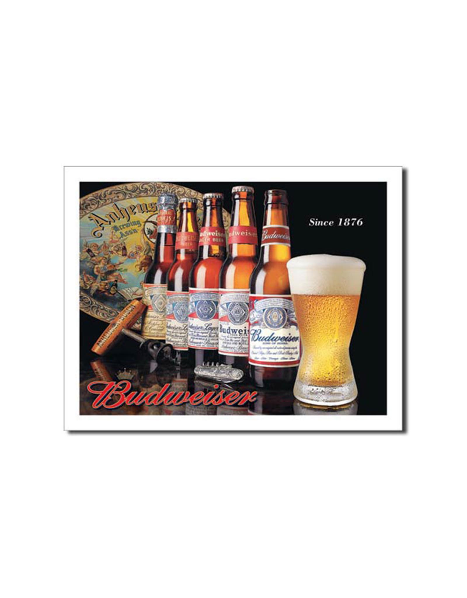 Budweiser ( Affiche de Métal 12.5 X 16 ) Since 1876