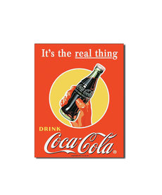 Coca-Cola Coca-Cola ( Metal Sign 12.5 X 16 ) It's the Real Thing