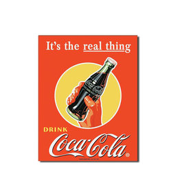 Coca-Cola Coca-Cola ( Affiche de Métal 12.5 X 16 ) It's the Real Thing