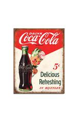 Coca-Cola Coca-Cola ( Metal Sign 12.5 X 16 ) Delicious Refreshing in Bottles