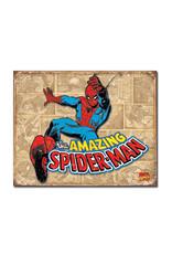 Marvel Marvel ( Metal Sign 12.5 X 16 ) Spider-Man Retro