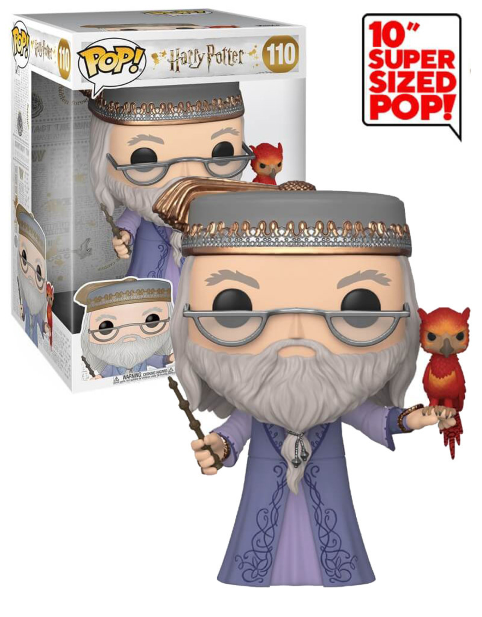Harry Potter Albus Dumbledore with Fawkes 110 ( Funkko Pop ) Harry Potter