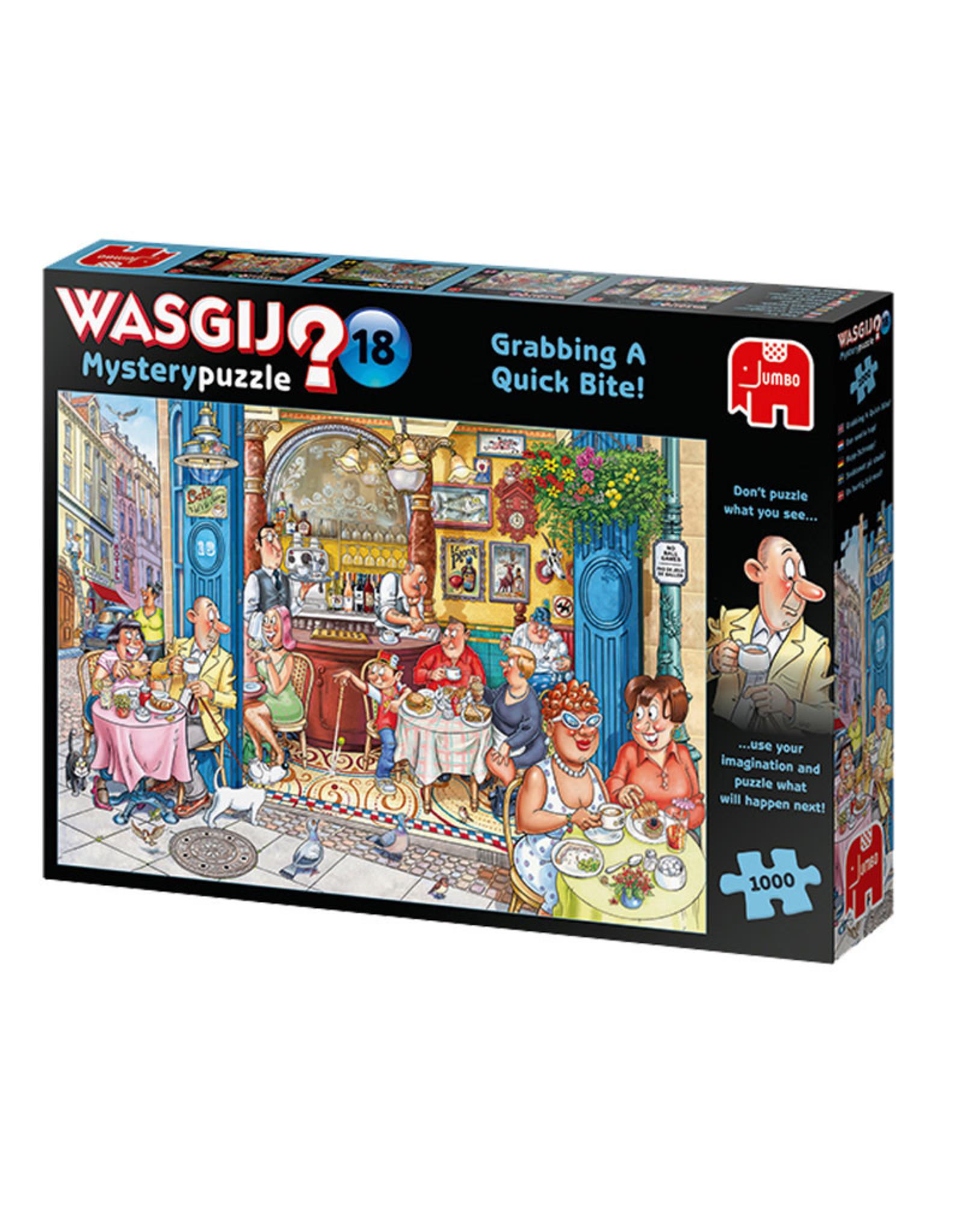 Wasgij? 18 ( Puzzle 1000 pcs ) Grabbing a Quick Bite !