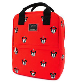 Disney Disney ( Loungefly Mini Fabric Backpack ) Minnie Mouse