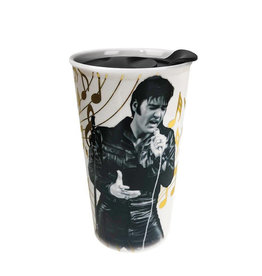 Elvis Elvis ( Ceramic Mug with Lid )