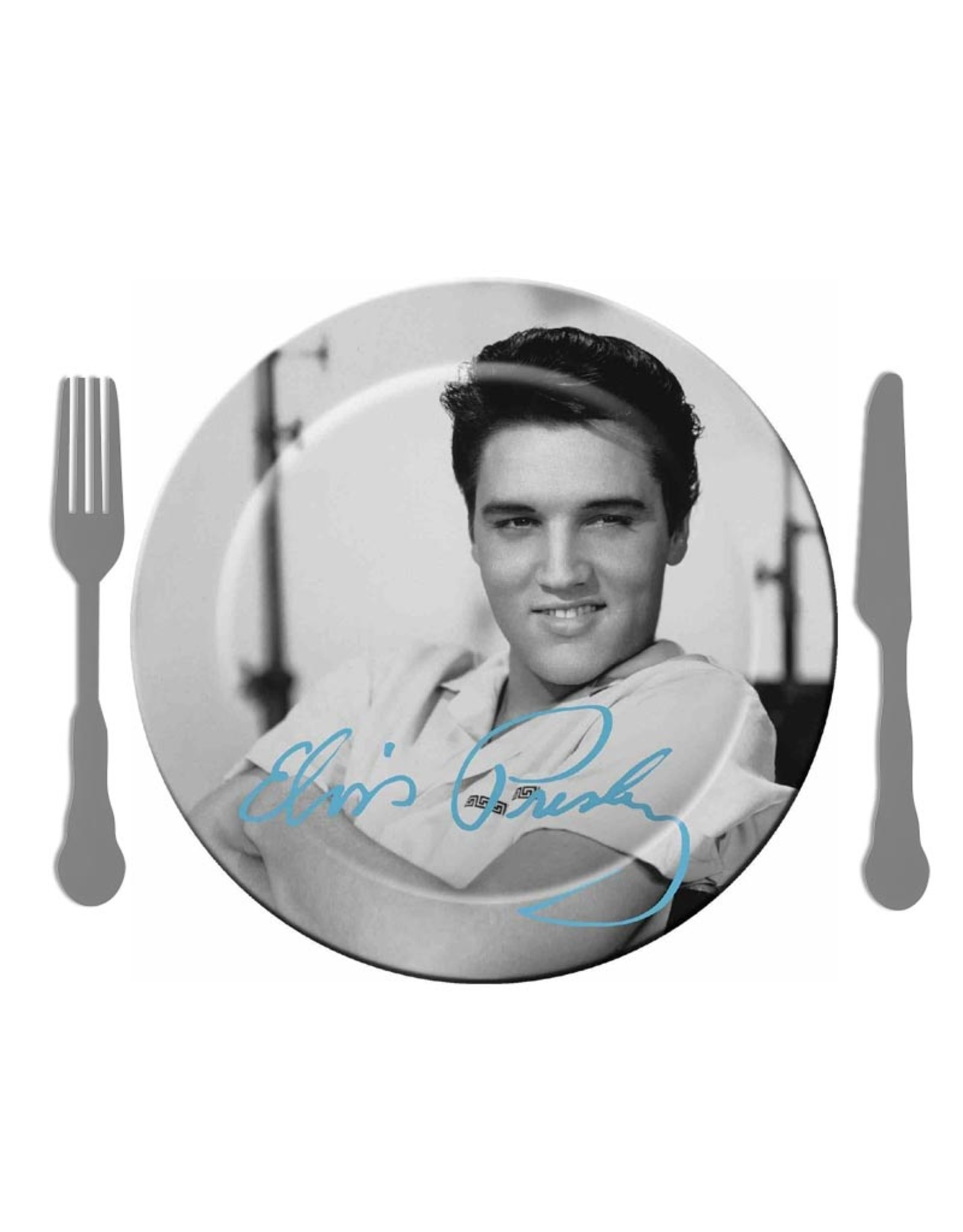 Elvis Elvis ( Set of 4 Melamine Plate )