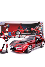 Harley Quinn ( Voiture de collection en métal 1:24 ) Corvette Stingray