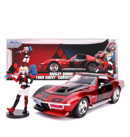 Harley Quinn ( Die Cast 1:24 ) Corvette Stingray