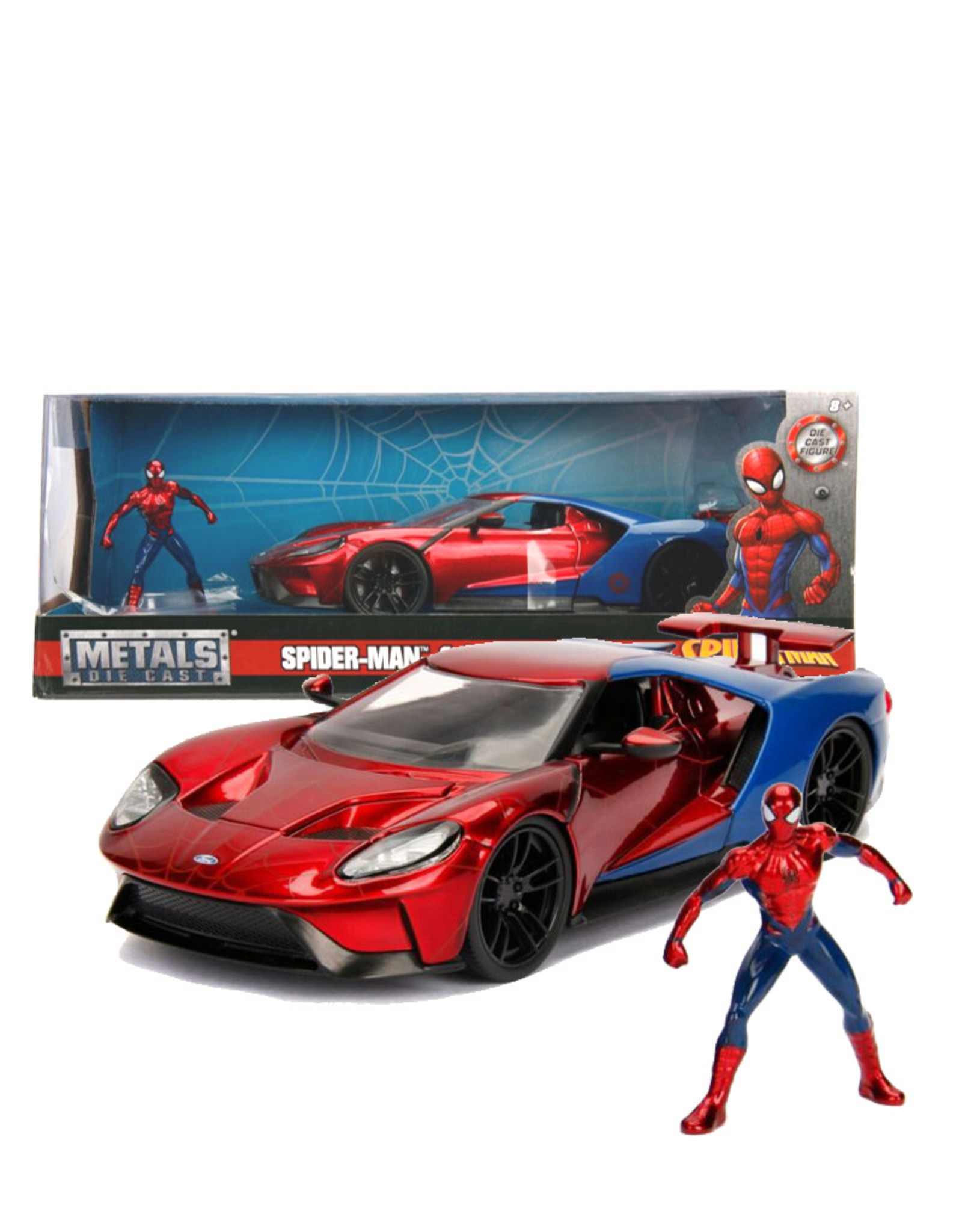 Spider-man ( Voiture de collection en métal 1:24 ) Ford GT