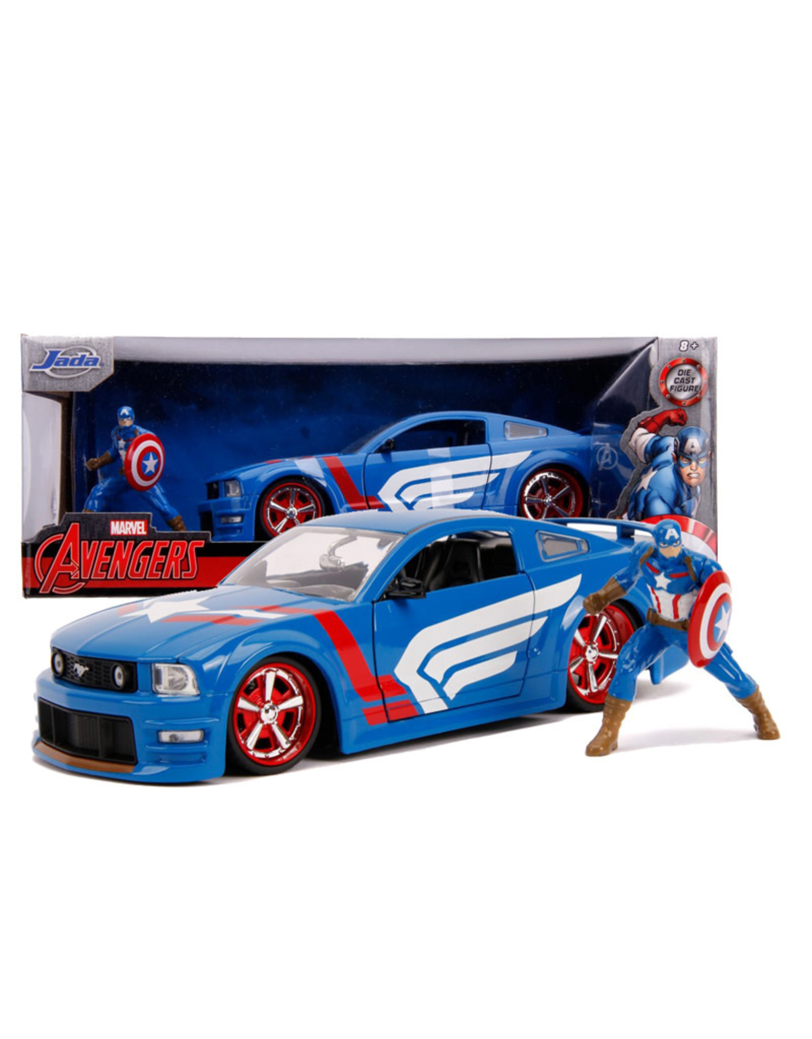 Captain America ( Voiture de collection en métal 1:24 ) Ford Mustang 2006