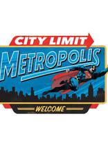 Dc comics Dc Comcis ( Embossed Metal Plate ) Metropolis City Limit Superman