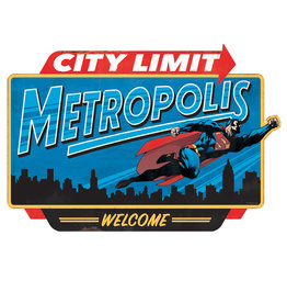 Dc comics Dc Comcis ( Affiche Embossée ) Metropolis City Limit Superman