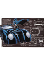 Dc comics Batman ( Affiche Métal Embossée) Batmobile