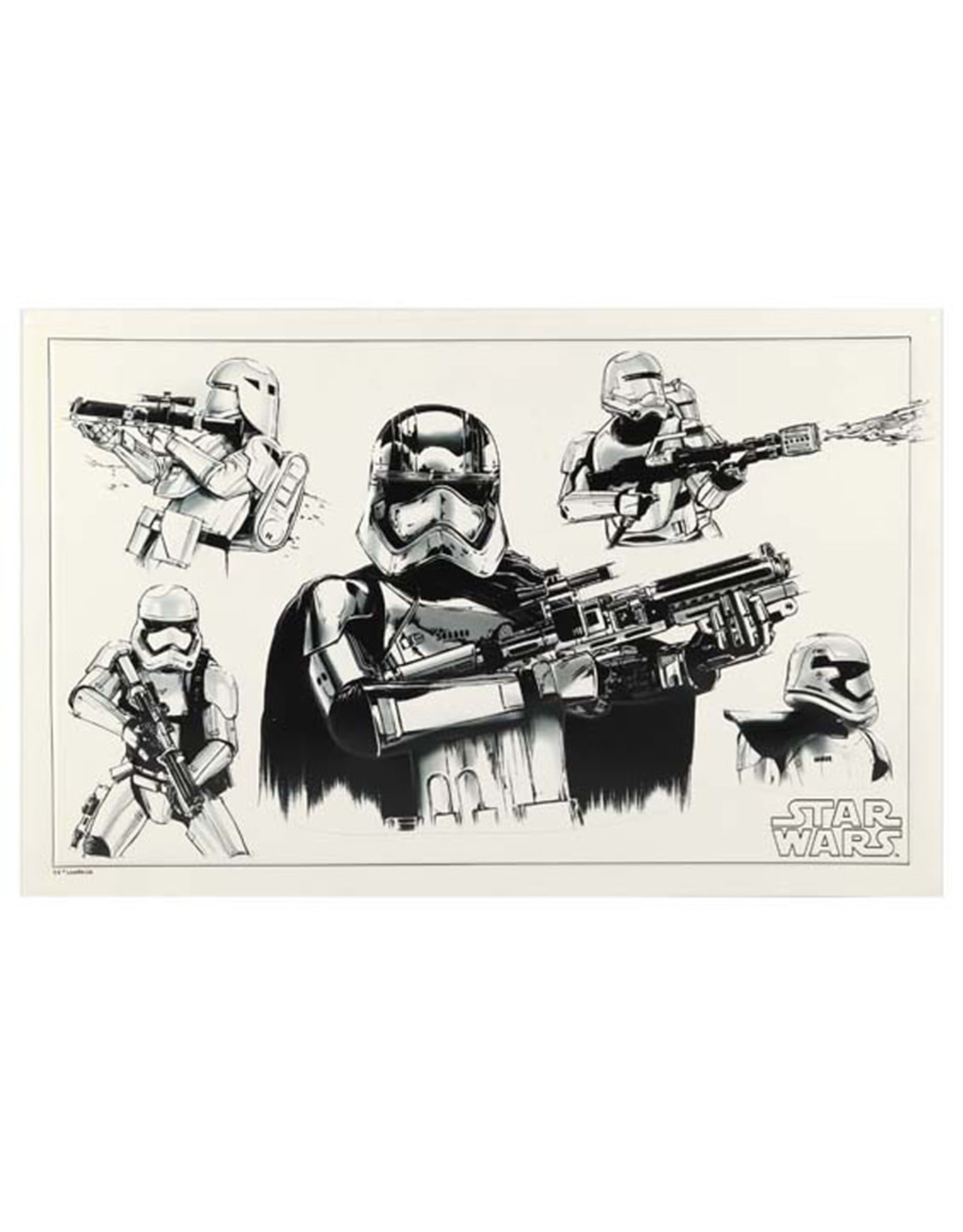 Star Wars Star Wars ( Embossed Metal Plate ) Trooper Sketch