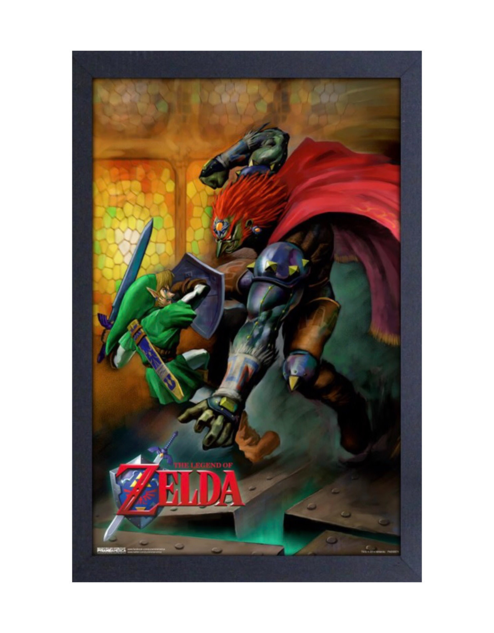 Zelda ( Framed print ) Link s. Ganondorf