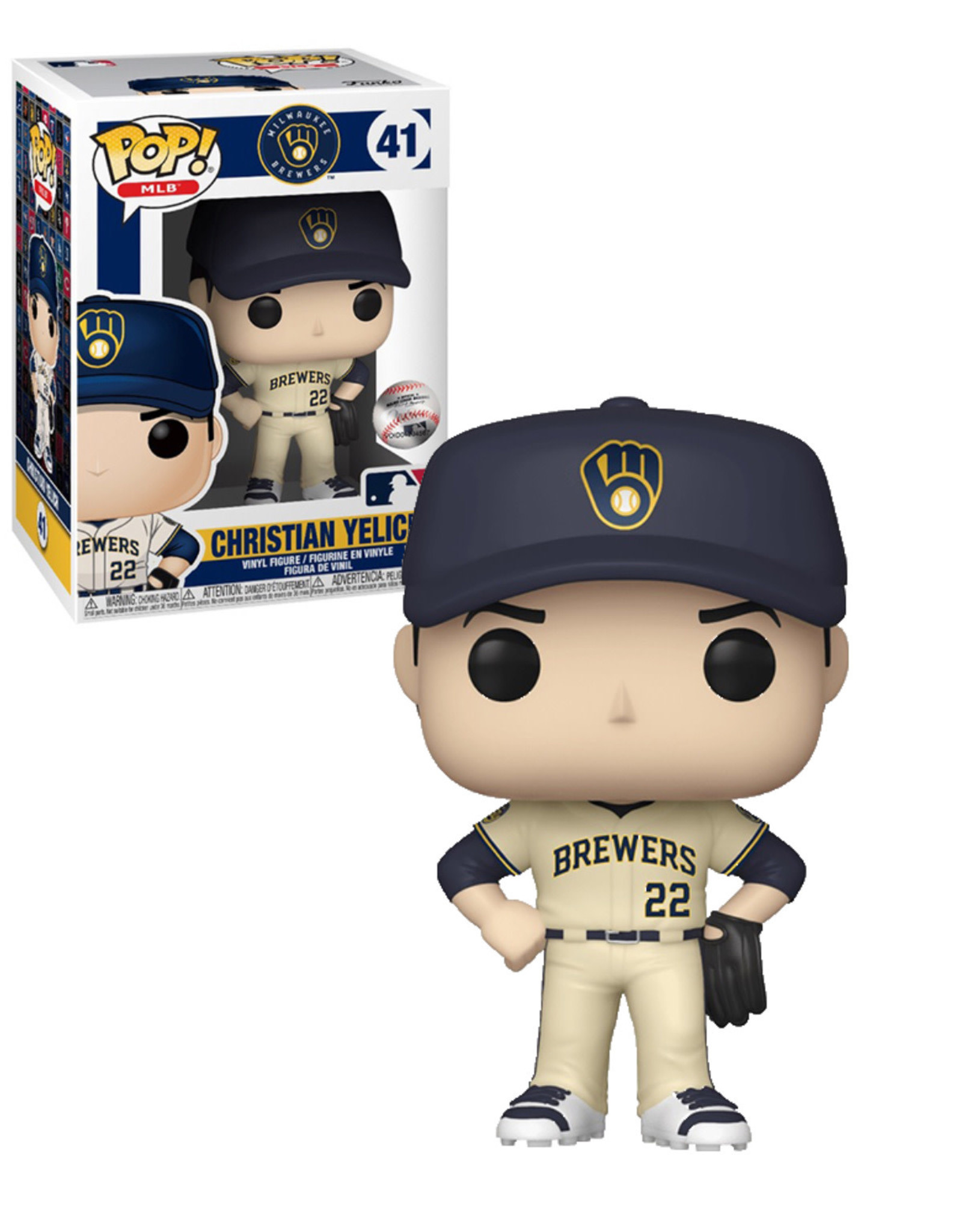 MLB Brewers 41 ( Funko Pop ) Christian Yelich