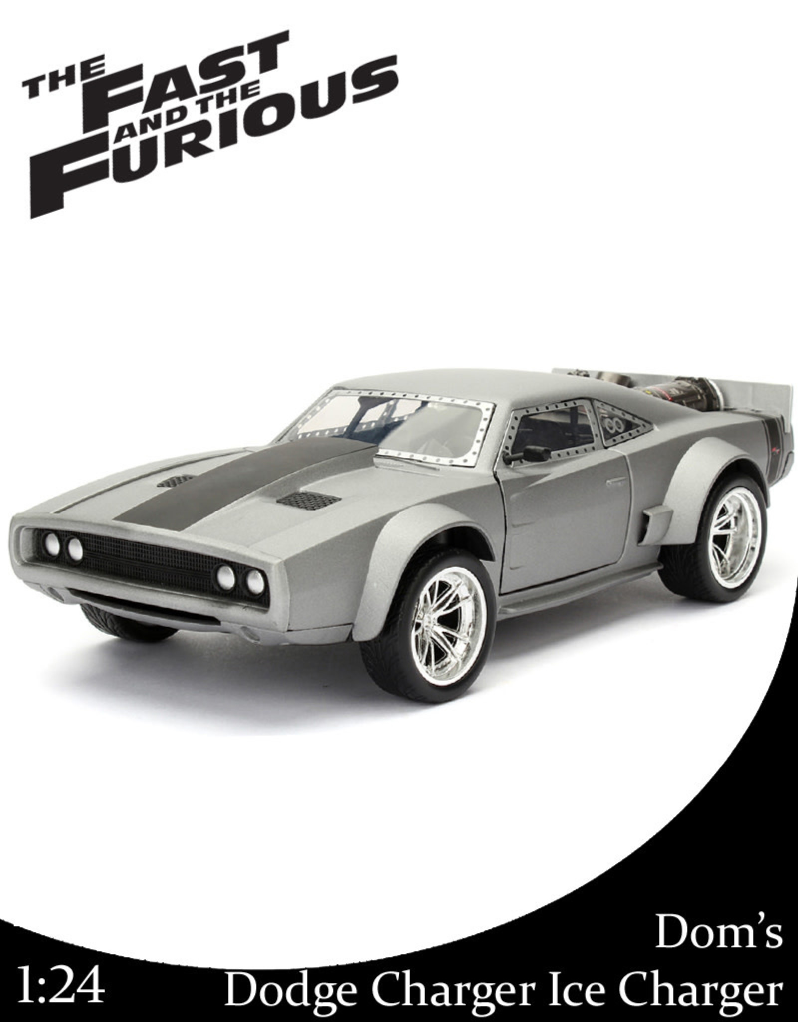 Fast & Furious ( Die Cast 1:24 ) Dom's Dodge Charger Ice charger