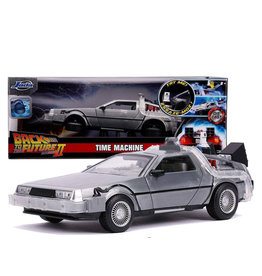 Back To The Future 2 ( Die Cast 1:24 ) Time Machine Delorean