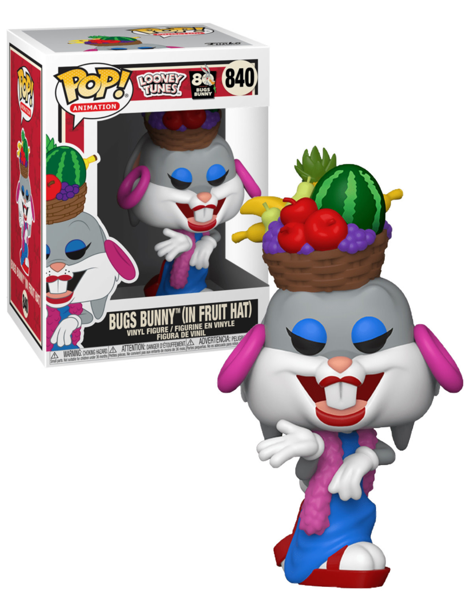 Looney Tunes 840 ( Funko Pop ) Bugs Bunny ( In Fruit Hat )
