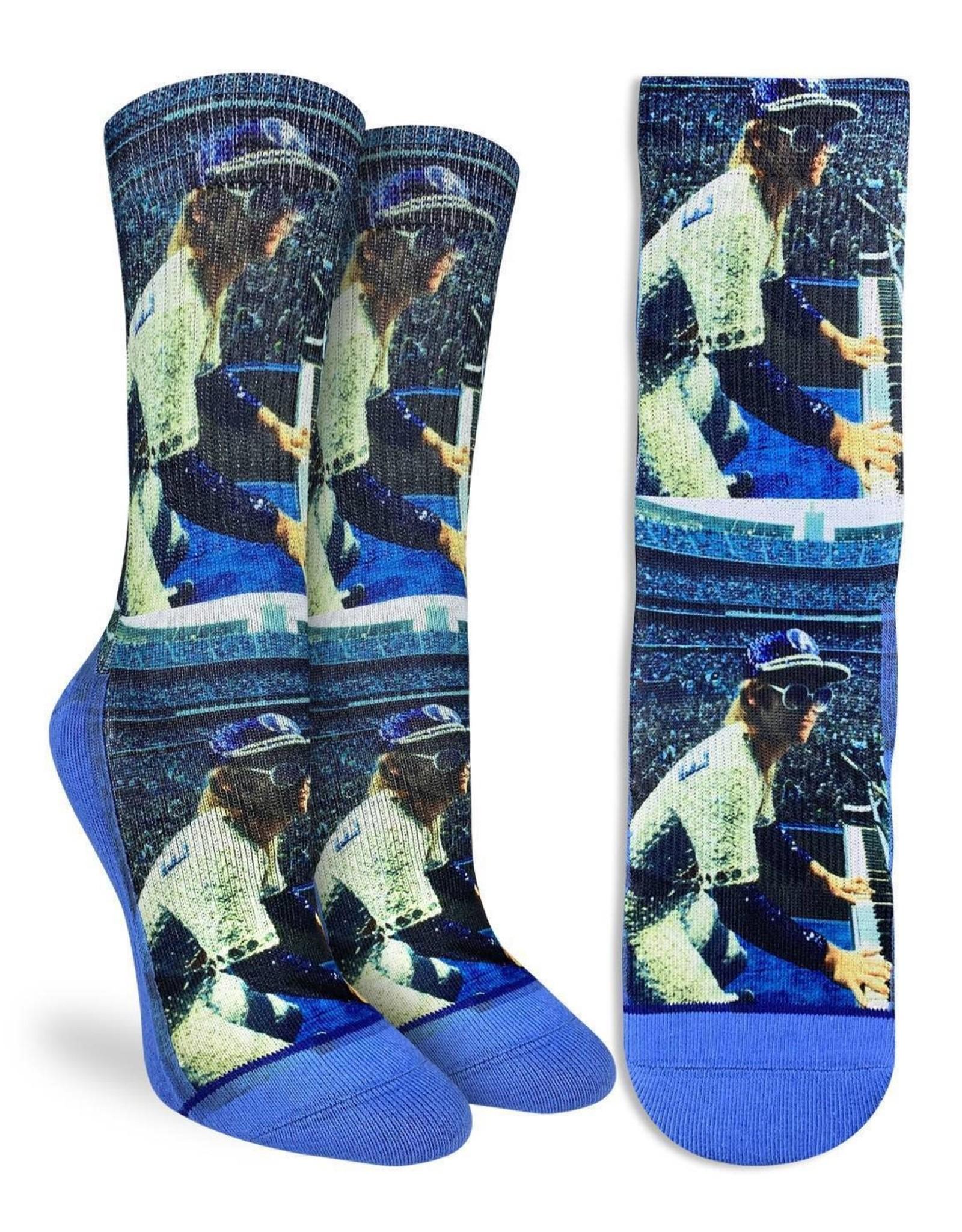 Elton John ( Bas Good Luck Sock ) Concert at Dodger Stadium