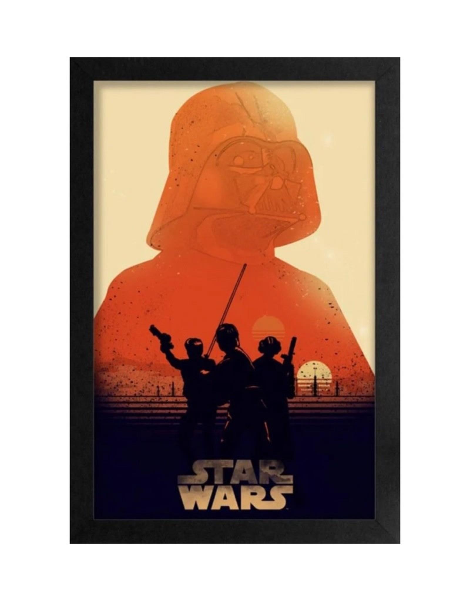Star Wars  ( Framed print ) Tatoonie Sunset