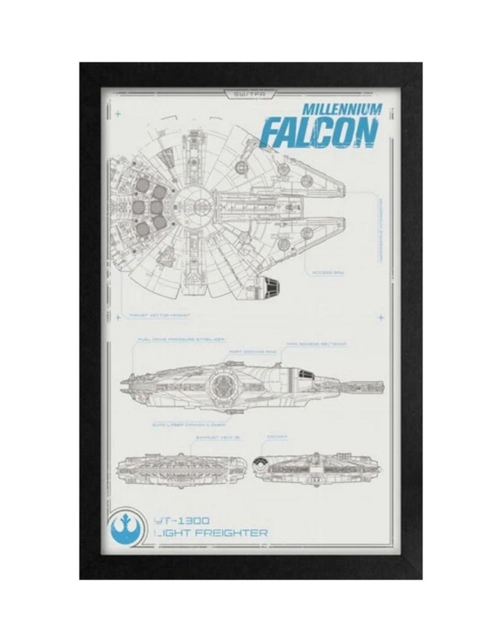 Star Wars Star Wars ( Framed print ) Millennium