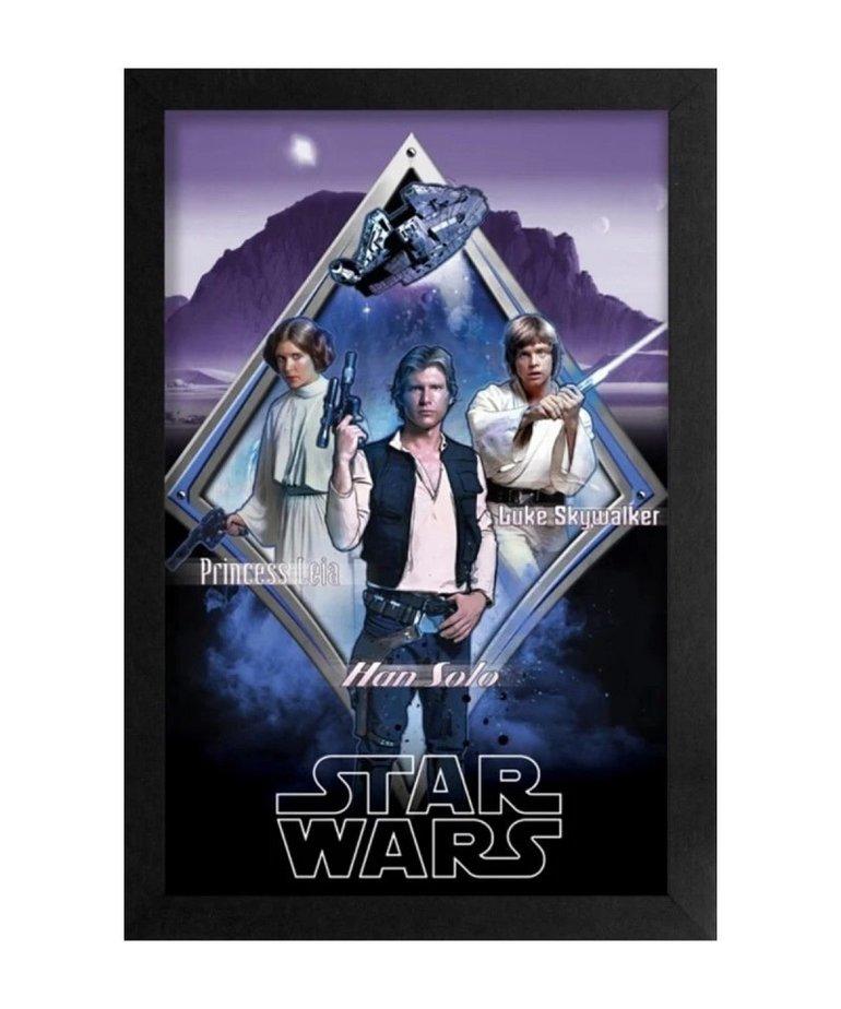 Star Wars Star Wars ( Framed print ) The Rebel Three