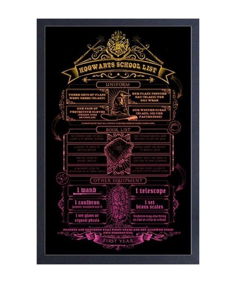 Harry Potter Harry Potter ( Framed print ) School List