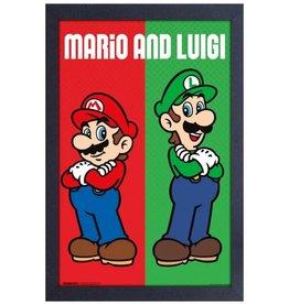 Super Mario Super Mario ( Framed print ) Mario & Luigi