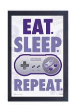 Nintendo Nintendo ( Framed print )  Eat, Sleep, Game