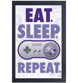 Nintendo Nintendo ( Framed print )  Eat, Sleep, Game