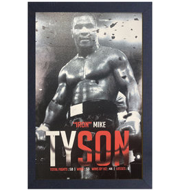 Mike Tyson ( Framed print ) Boxing Record
