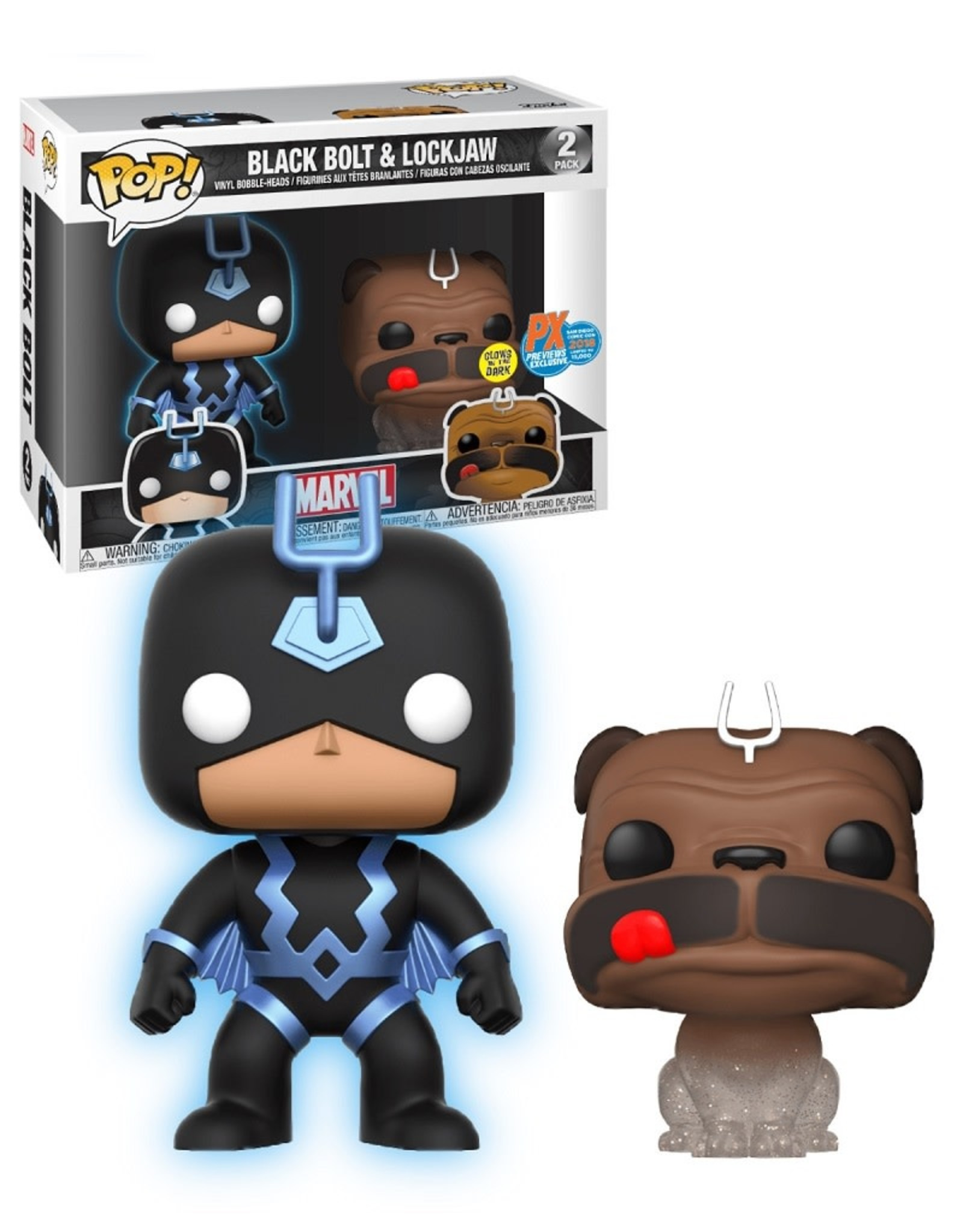 Marvel ( Funko Pop )  Black Bolt & Lockjaw