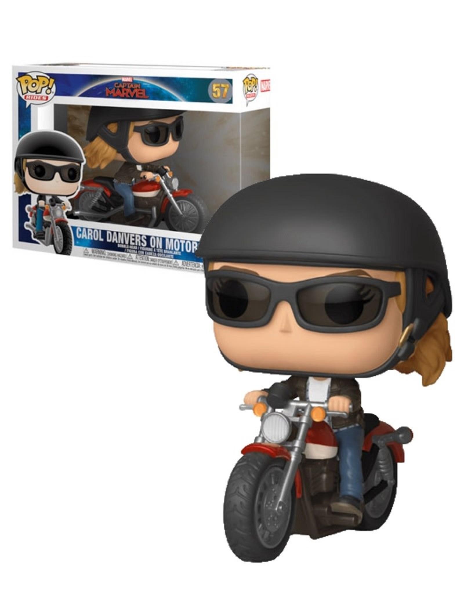 Marvel Captain Marvel 57 ( Funko Pop ) Carol Danvers On Motorcycle
