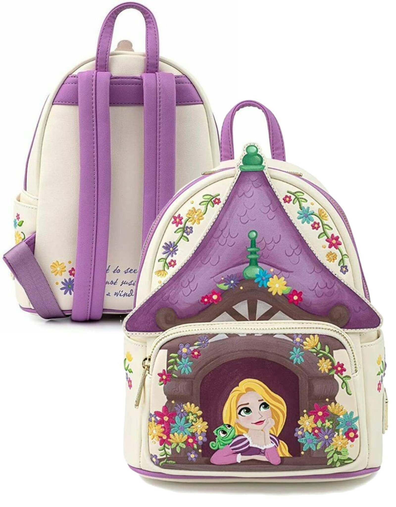 Disney (  Loungefly Mini Backpack ) Rapunzel Castle